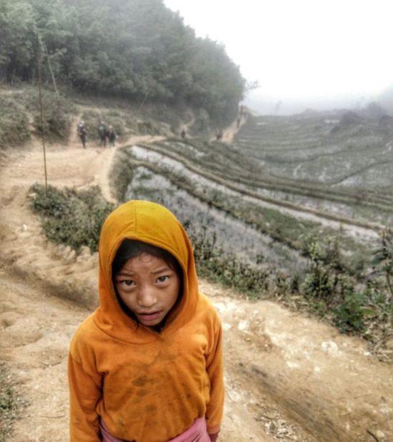 Niña de la tribu Hmong. Sapa, Vietnam