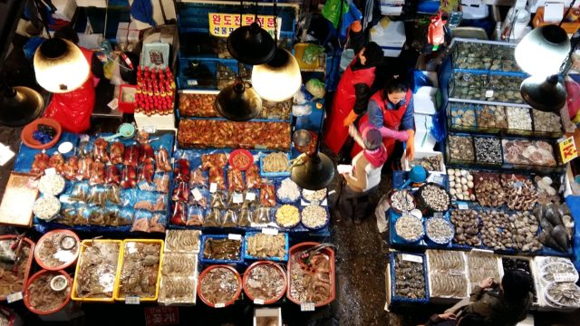 Mercado de pescado, imperdible